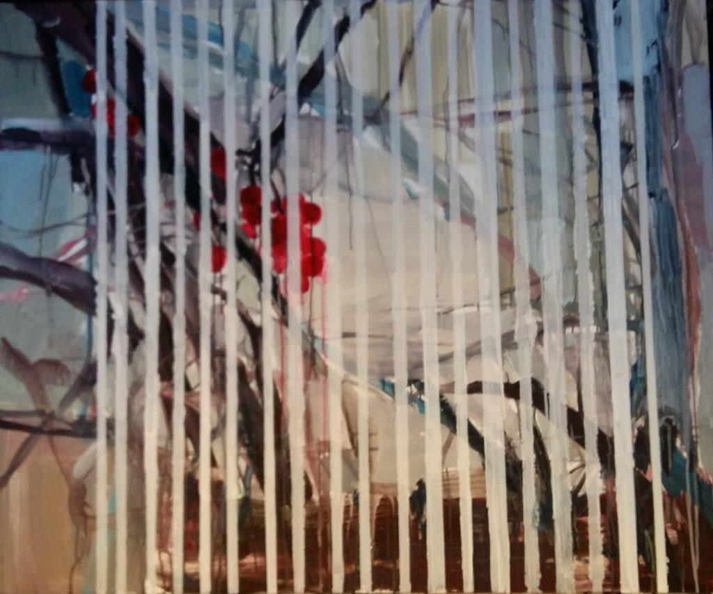 Laukimas, 2016, drobė, akrilas, aliejus, 100x120 cm.